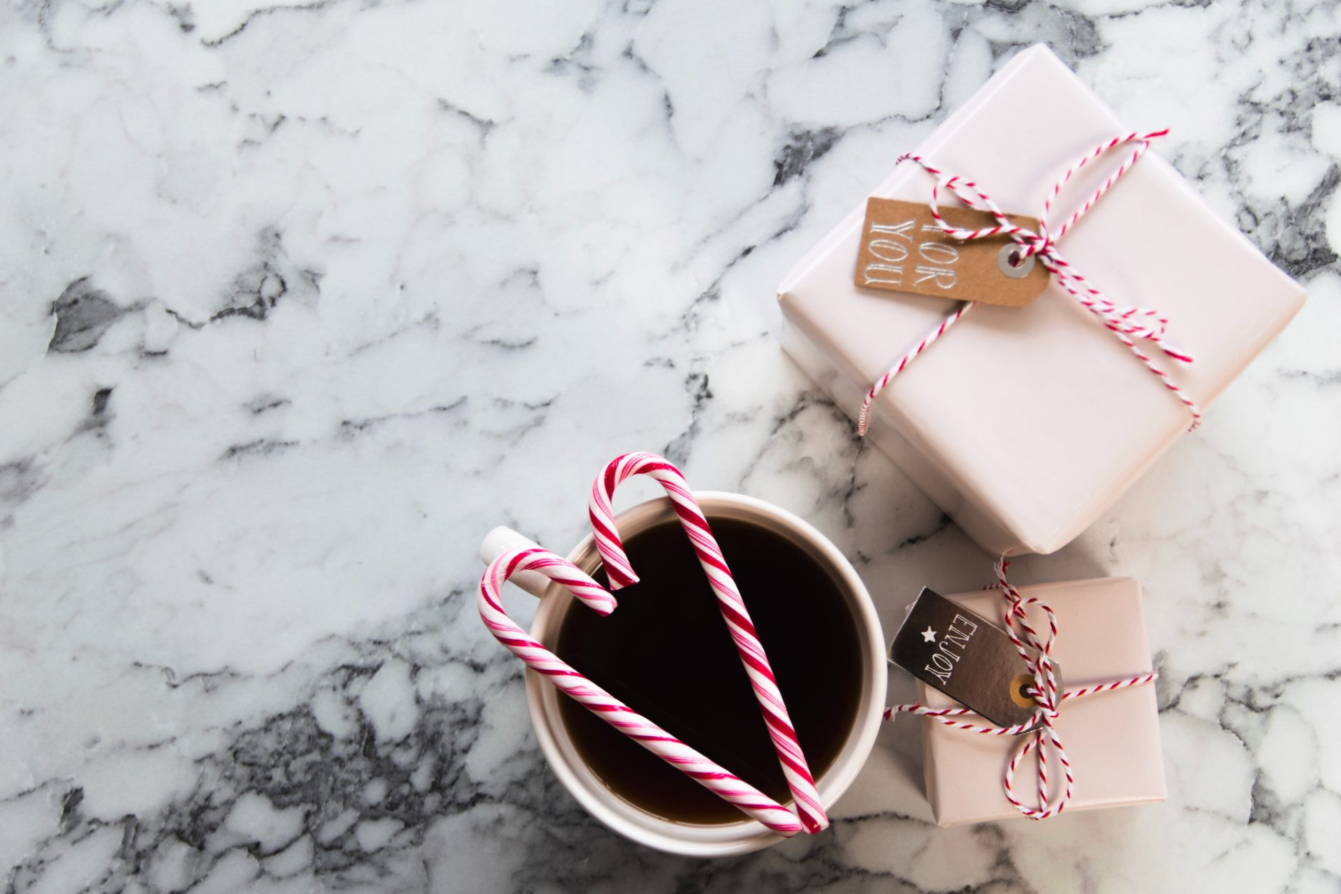 Corporate Holiday Gifts with Coffee and Candy Canes